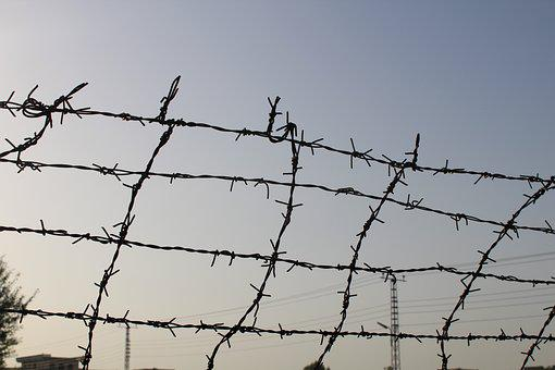 Fence, Border, Pakistan, Barrier, Wire, Boundary