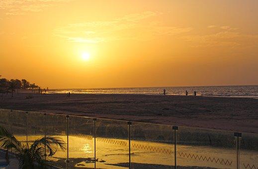 Sunset, Beach, Beach Sunset, Horizon, Vacation