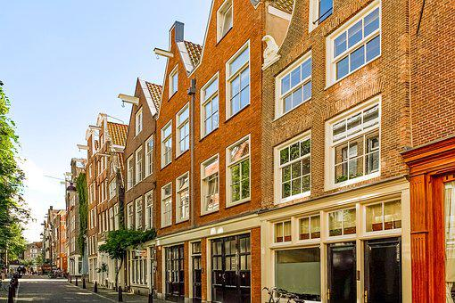 Street, House, Building, Facade, Brick, Architecture