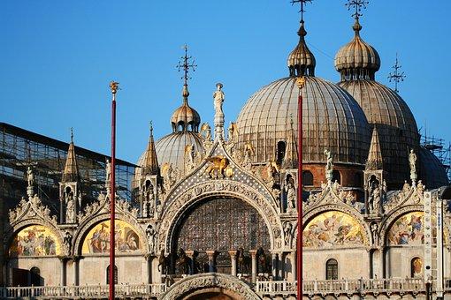Venice, Italy, Dome, San Marco, Building, Architecture