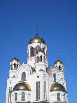 Church, Dome, Temple, Cathedral, Russia, Golden Dome