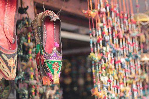 Indian Traditional, Foot Wear, Colorful, Fashion