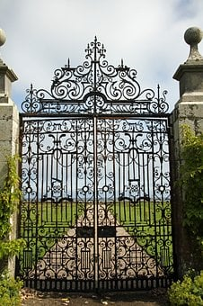 Gate, Door, Entrance, Old, Metal, Ancient, Antique