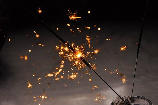 Radio, Sparkler, Festive, Fireworks, Star, Golden
