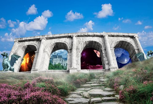 Arch, Gates, Portal, Another World, Other Worlds