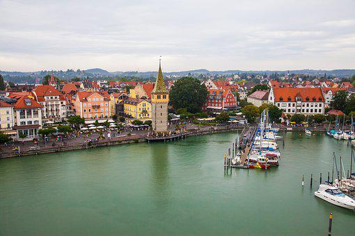 Lindau, Lake Constance, Port, Water, Places Of Interest