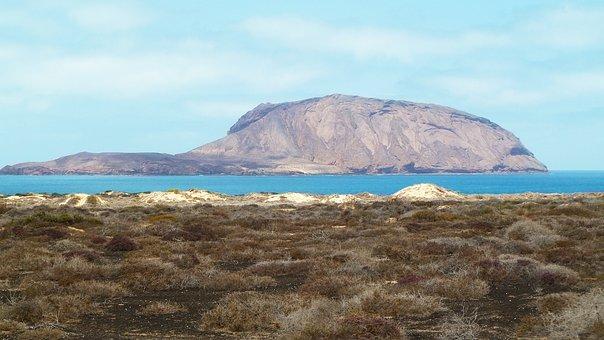 Sea, Nature, Rocks, Heaven, Landscape, Sky, Mountains
