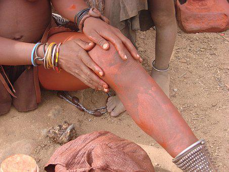 Namibia, Woman, Himba, Culture, People, Clay, Red
