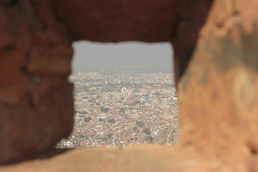 India, City, Jaipur, Aerial View, Ancient, Rajasthan