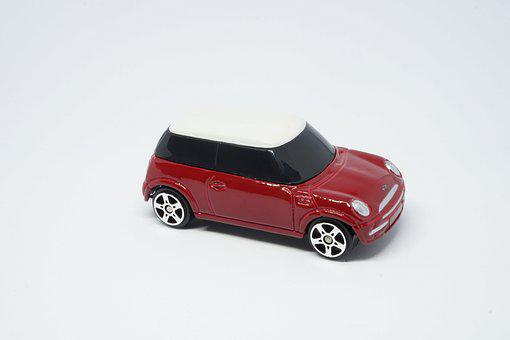 Truck, Mini Couper, Red, Rims, Toy, Vehicle, Mobilize
