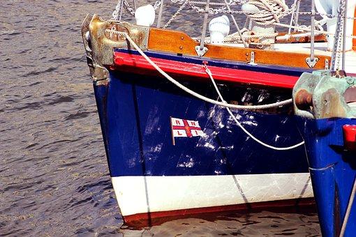 Prow, Bow, Boat, Blue, Water, Ship, Sea, Transportation