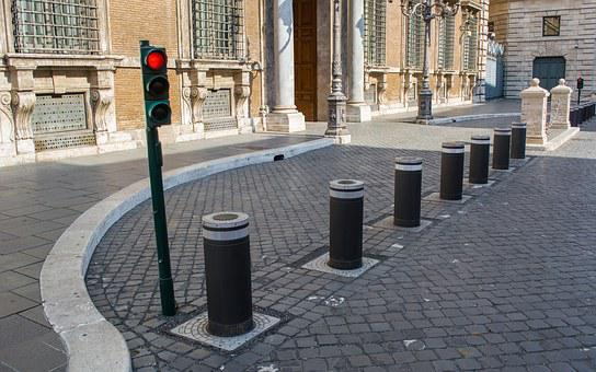 Bollard, Bollards, Traffic, Street, No Entry