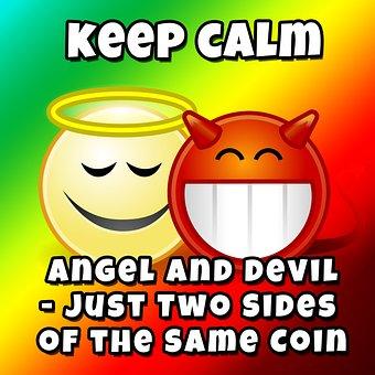 Opposites, Angel, Devil, Gut, Evil, Dear, Contrary, Man