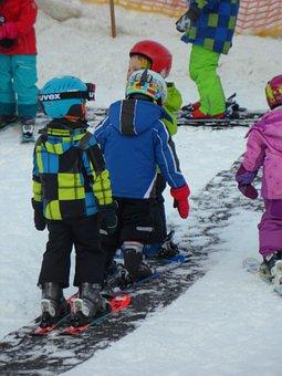 Ski Lessons, Dwarfs, Snow, Skiing, Beginners, Winter