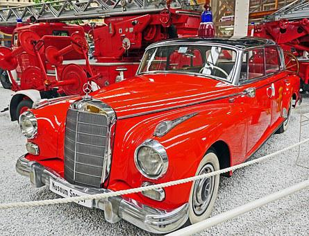 Fire, Fire Chief, Mercedes 300, Adenauer-mercedes