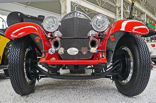 Mercedes, Spider, Roadster, Racing Car, Convertible