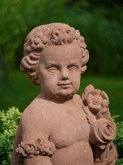 Stone, Sculpture, Cherub, öhringer Castle, Castle Park
