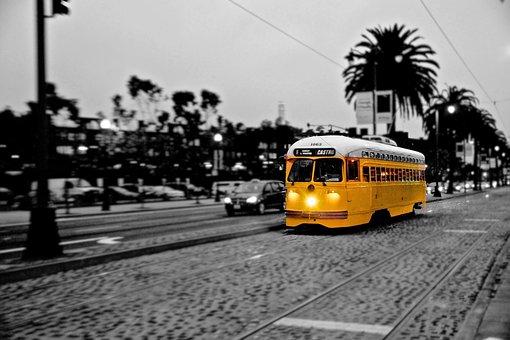 Tram, Trolley Train, San Francisco, Transportation