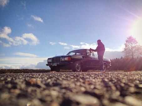 Autumn, Mercedes Benz, Man, Oldtimer, Auto, Mercedes