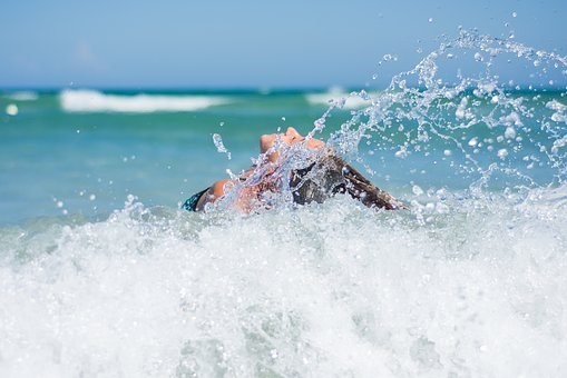 Girl, Beach, Waves, Ocean, Summer, Sea, Vacation, Woman