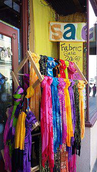 Colorful Scarves, Fabric, Store, Textile, Scarf, Color