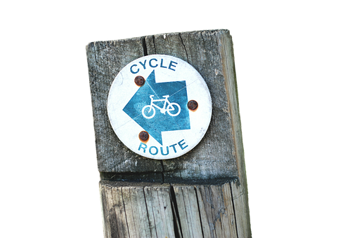 Shield, Directory, Cycle Path, Signposts, Direction