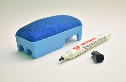 Eraser, Marker, Education, Office, School, Stationery