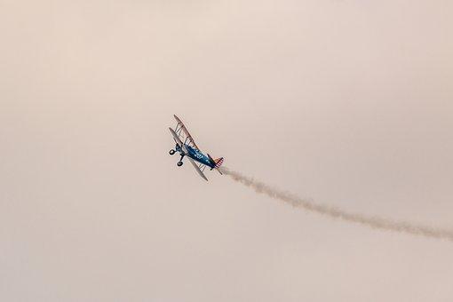 Boeing Stearman Pt-13d, Double Decker, Aircraft, Fly
