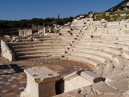 Messini, Theatre, Greek, Archeology, Amphitheatre