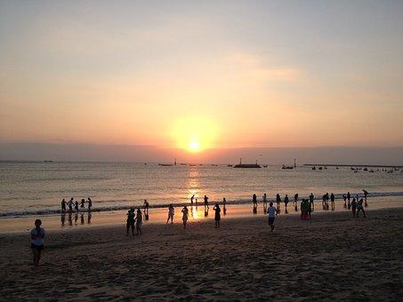 Sunset, Asia, Sea, Beach, Romantic, Bali, Mood