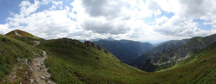 Western Tatras, Mountains, Trail, Landscape, Nature