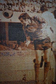 Football, Art, Mosaic, Ornamental, Tile, Mexican Art