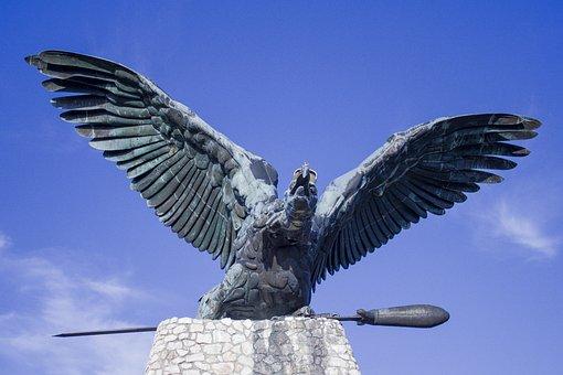 Turul, Bird, Coat Of Arms, Wings, Turul Bird, Tatabánya