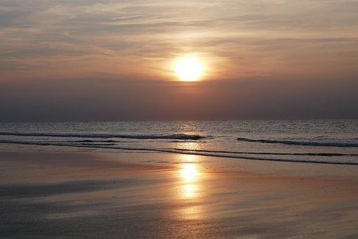 Sunset, Sea, Abendstimmung, Sunset Sea, Water, Clouds