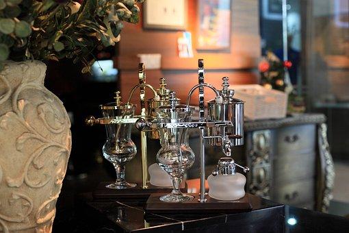 Coffee, Shop, Warm, Balancing, Siphon
