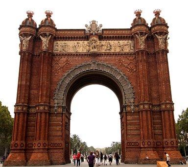 Sculpture, Arc De Triomf, Barcelona, Catalonia, Spain