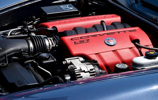 Corvette, Chevrolet, Classic, Sports Car, Engine