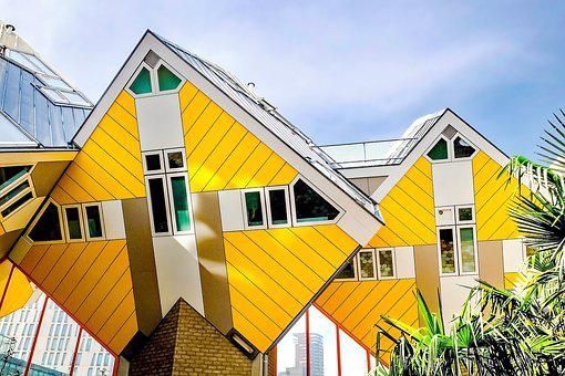 House, Home, Cubic House, Modern, Architecture