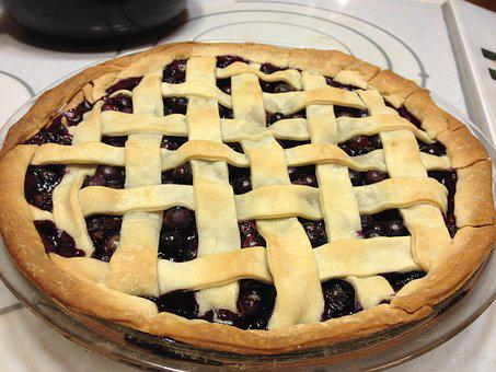 Pie, Blueberry, Baking, Dessert
