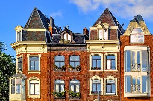 Home, House, Facade, Brick, Architecture, Amsterdam