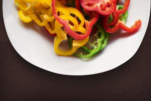 Plate, Pepper, Dishes, Gasrtonomia