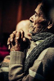 Praying, Elderly, Mr, Scarf, Luggage, Grandpa, Velinho
