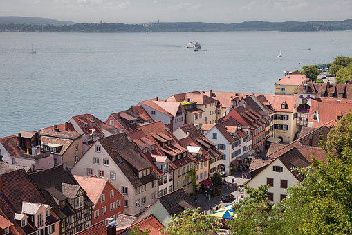 Meersburg, Lake Constance, Old Town, Architecture, Lake