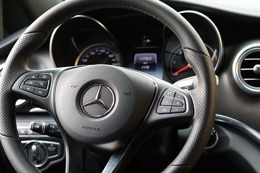 Leather Steering Wheel, Mercedes, Auto Detail, Interior