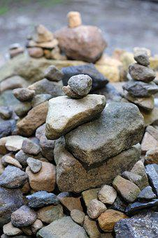 Stones, Boulders, Pebbles, Art, Stacked