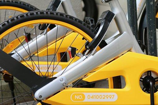O-bike, Rental Bike, Rear Wheel, Chain Guard, Pedals