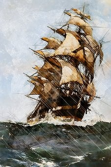 Sailing Ship, Mast, Boat, Sea, Sailboat, Transportation