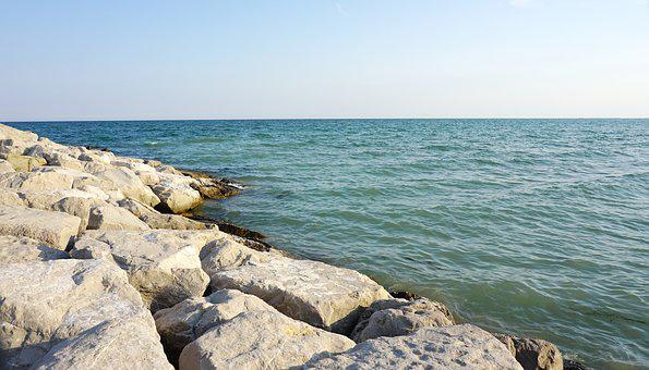Sea, Sky, Stones, Rock, Water, Clouds, By The Sea, View