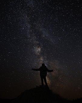 Sky, Night, Stars, Galaxy, Photography, Kids, Mountain