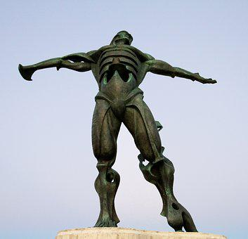 Statue Of The Winds, Cantabria, Suances, Spain Statue